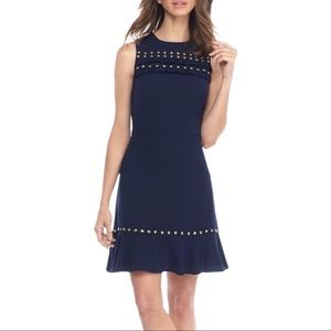 MICHAEL Michael Kors True Navy Studded Dress XS